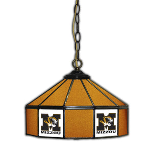 UNIVERSITY OF MISSOURI 14in. GLASS PUB LAMP