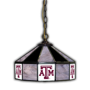 TEXAS A & M 14in. GLASS PUB LAMP