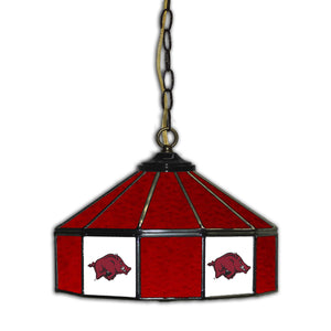 UNIVERSITY OF ARKANSAS 14in. GLASS PUB LAMP