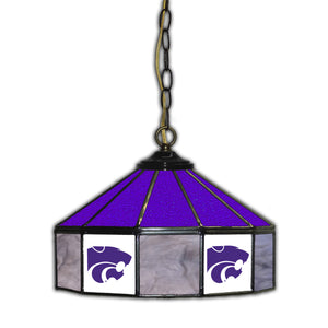 KANSAS STATE 14in. GLASS PUB LAMP