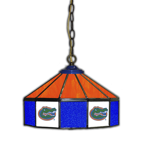 UNIVERSITY OF FLORIDA 14in. GLASS PUB LAMP