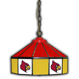UNIVERSITY OF LOUISVILLE 14in. GLASS PUB LAMP