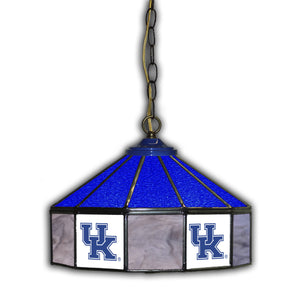 UNIVERSITY OF KENTUCKY 14in. GLASS PUB LAMP