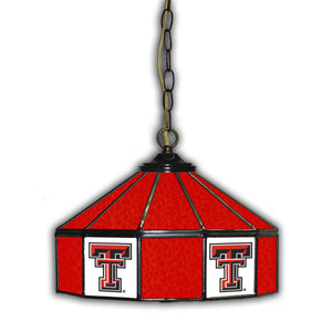 TEXAS TECH 14in. GLASS PUB LAMP