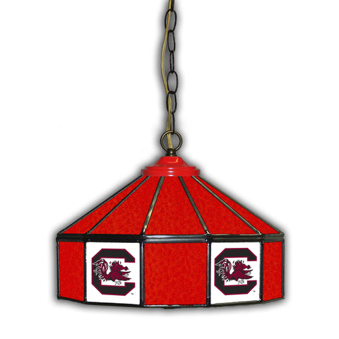 UNIVERSITY OF SOUTH CAROLINA 14in. GLASS PUB LAMP
