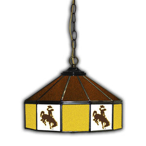 UNIVERSITY OF WYOMING 14in. GLASS PUB LAMP