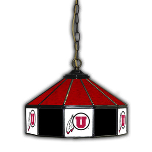 UNIVERSITY OF UTAH 14in. GLASS PUB LAMP
