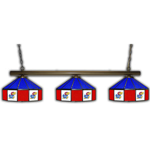 UNIVERSITY OF KANSAS3 SHADE GLASS LAMP
