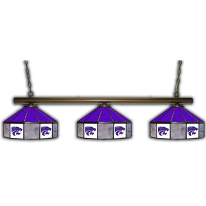 KANSAS STATE 3 SHADE GLASS LAMP