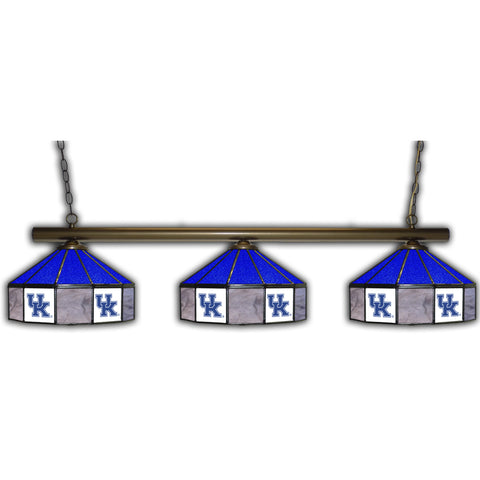 UNIVERSITY OF KENTUCKY 3 SHADE GLASS LAMP