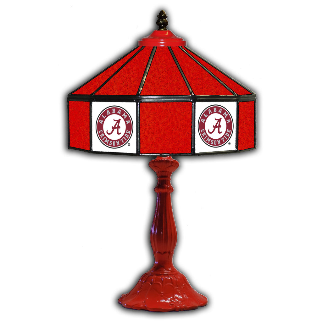 UNIVERSITY OF ALABAMA 21in. GLASS TABLE LAMP