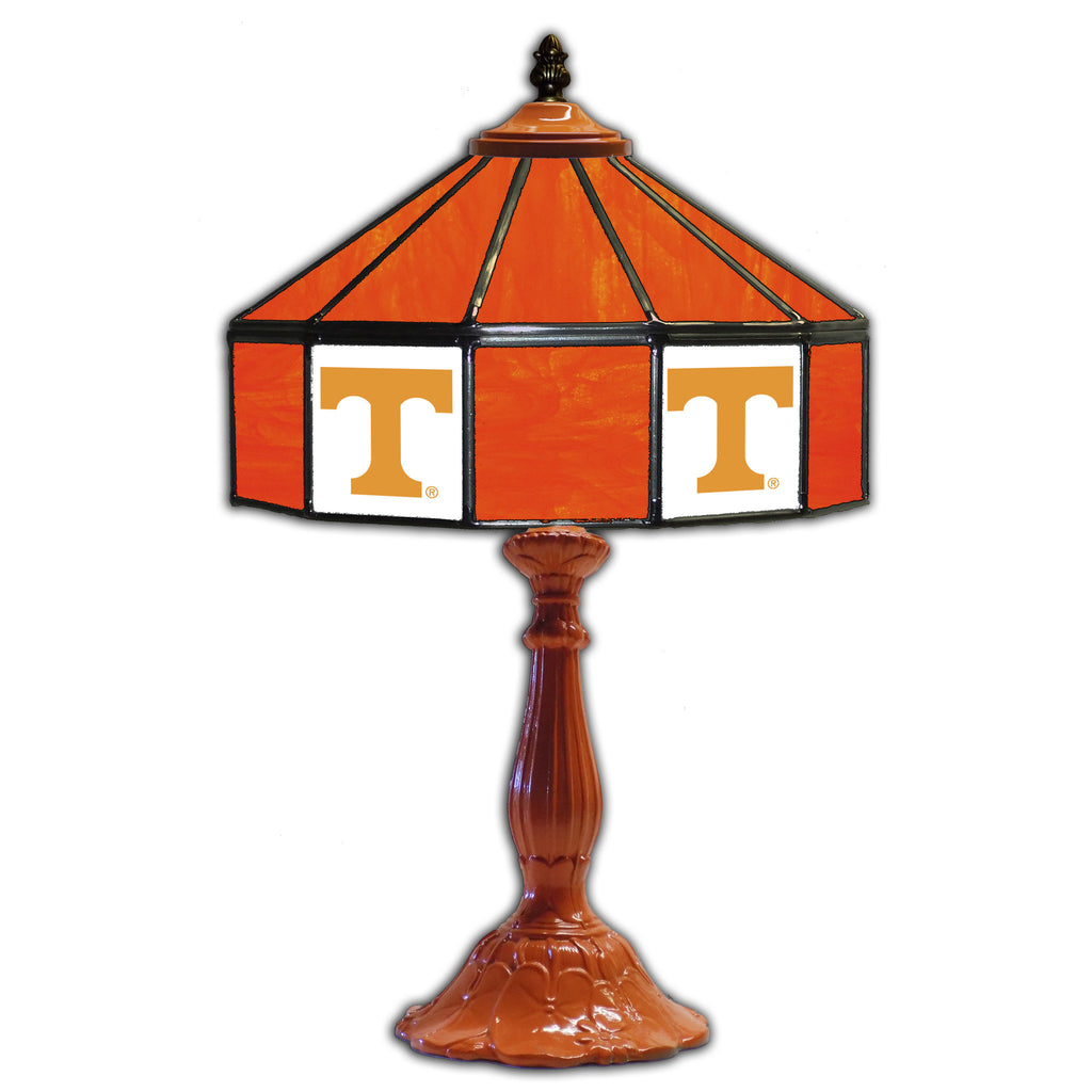 UNIVERSITY OF TENNESSE 21in. GLASS TABLE LAMP