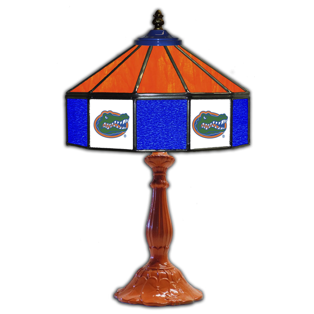 UNIVERSITY OF FLORIDA 21in. GLASS TABLE LAMP