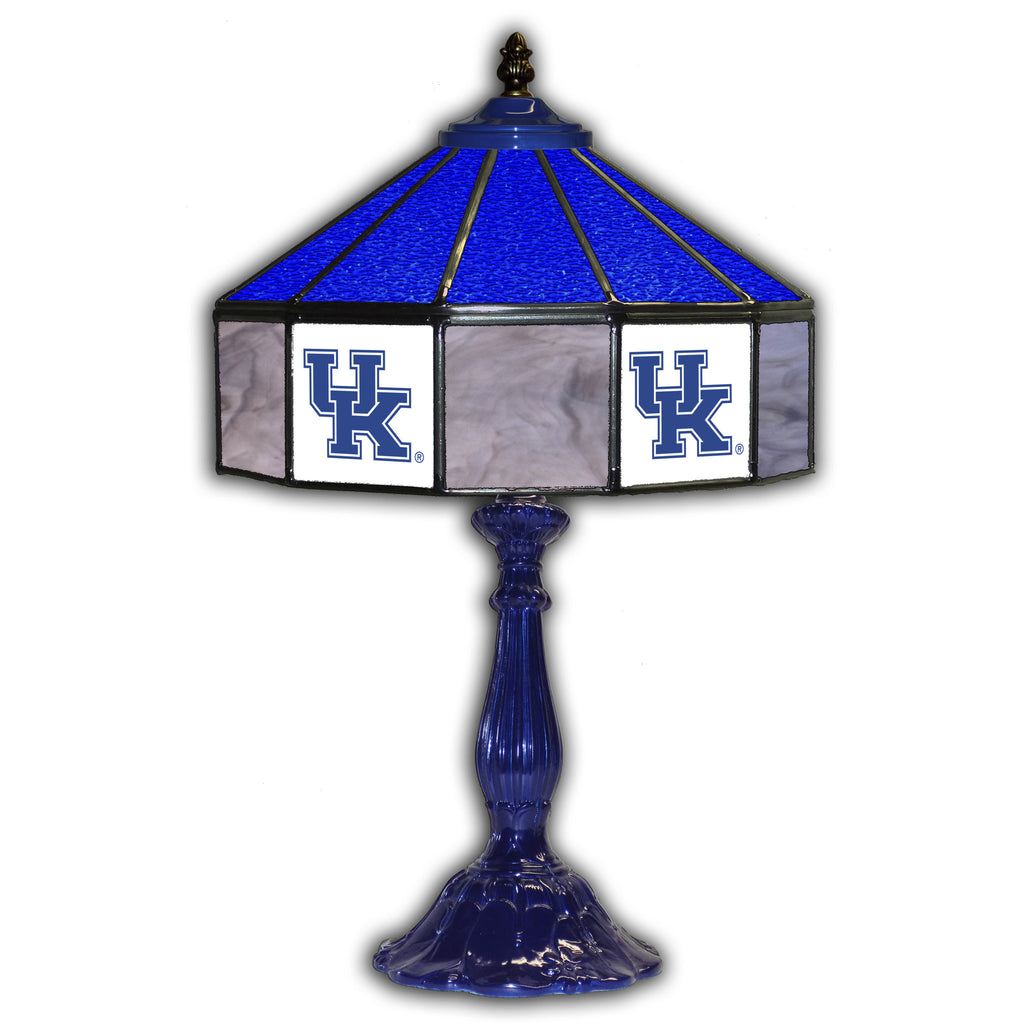 UNIVERSITY OF KENTUCKY 21in. GLASS TABLE LAMP