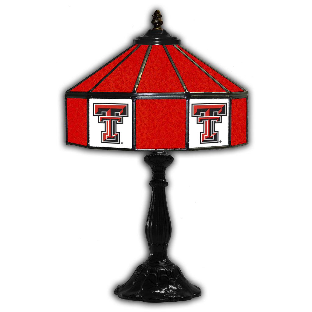 TEXAS TECH 21in. GLASS TABLE LAMP