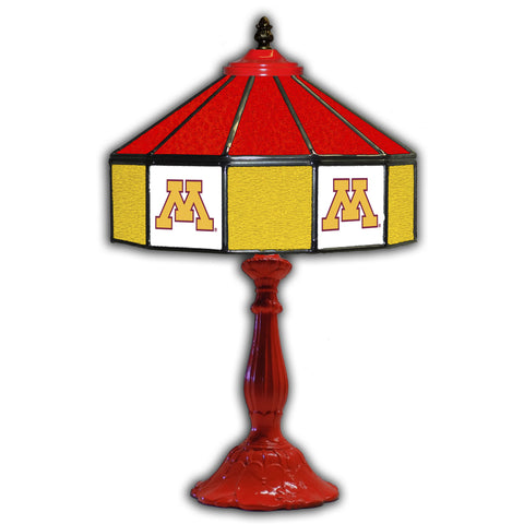 UNIVERSITY OF MINNESTOA 21in. GLASS TABLE LAMP
