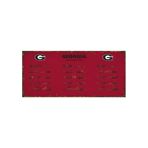 UNIVERSITY OF GEORGIA 3 HOOK METAL COAT RACK