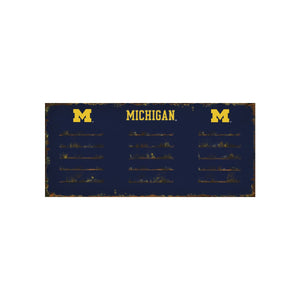 UNIVERSITY OF MICHIGAN 3 HOOK METAL COAT RACK