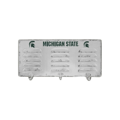 MICHIGAN STATE 3 HOOK METAL COAT RACK