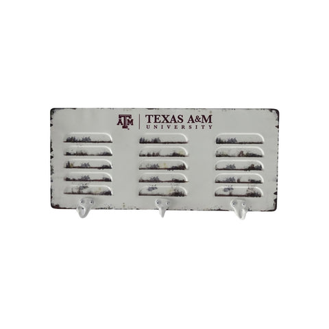 TEXAS A & M 3 HOOK METAL COAT RACK