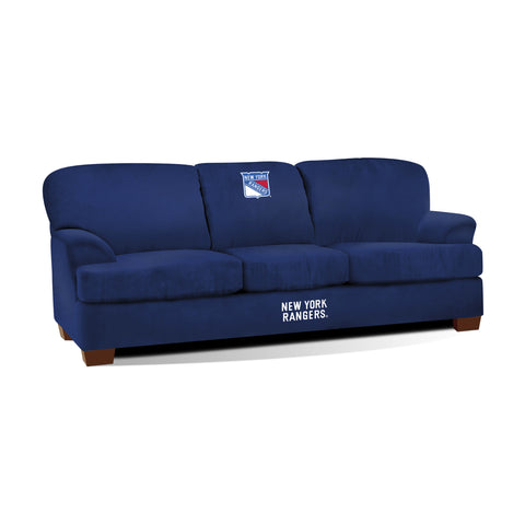 NEW YORK RANGERS FIRST TEAM MICROFIBER SOFA