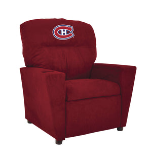 MONTREAL CANADIENS KIDS MICROFIBER RECLINER