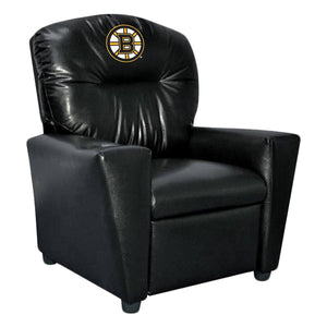 BOSTON BRUINS FAUX LEATHER KIDS RECLINER