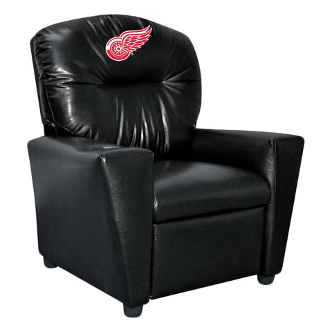 DETROIT REDWINGS FAUX LEATHER KIDS RECLINER