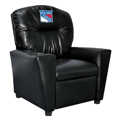 NEW YORK RANGERS FAUX LEATHER KIDS RECLINER