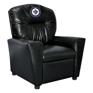 WINNIPEG JETS FAUX LEATHER KIDS RECLINER