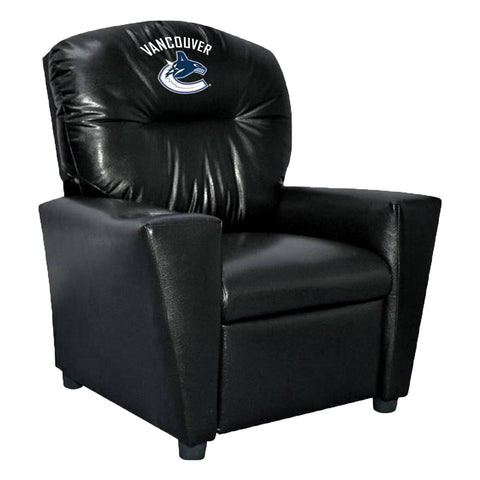 VANCOUVER CANUCKS FAUX LEATHER KIDS RECLINER