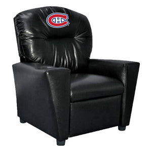 MONTREAL CANADIENS FAUX LEATHER KIDS RECLINER