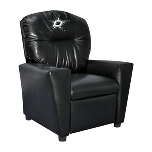 DALLAS STARS KIDS FAUX LEATHER KIDS RECLINER