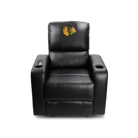 CHICAGO BLACKHAWKS POWER THEATER RECLINER