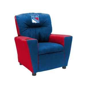 NEW YORK RANGERS FAN FAVORITE KIDS RECLINER MICROFIBER