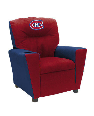 MONTREAL CANADIENS FAN FAVORITE KIDS RECLINER MICROFIBER