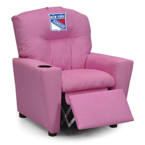 NEW YORK RANGERS PINK KIDS RECLINER MICROFIBER
