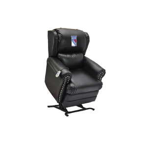 NEW YORK RANGERS COACH LEATHER LIFT CHAIR