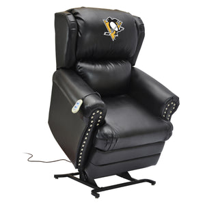 PITTSBURGH PENGUINS COACH LEATHER LIFT CHAIR