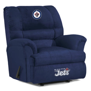 WINNIPEG JETS BIG DADDY MICROFIBER RECLINER