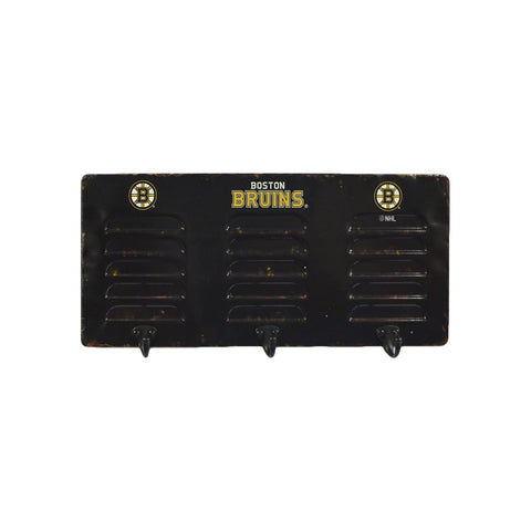 BOSTON BRUINS 3 HOOK METAL LOCKER COAT RACK
