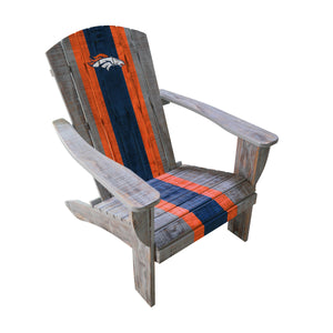 DENVER BRONCOS WOODEN ADIRONDACK CHAIR