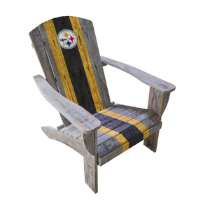 PITTSBURGH STEELERS WOODEN ADIRONDACK CHAIR
