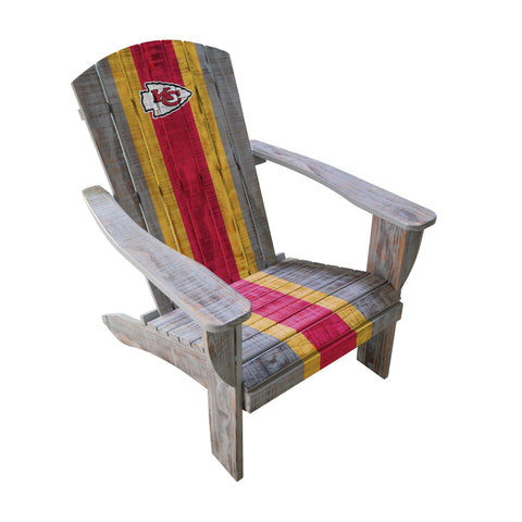 KANSAS CITY CHIEFS WOODEN ADIRONDACK CHAIR