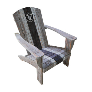 OAKLAND RAIDERS WOODEN ADIRONDACK CHAIR