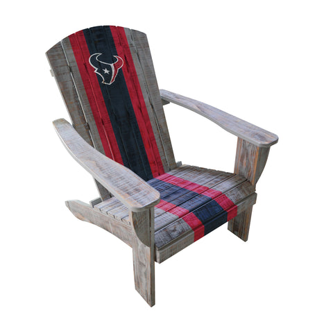 HOUSTON TEXANS WOODEN ADIRONDACK CHAIR