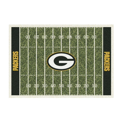 GREEN BAY PACKERS 4X6 HOMEFIELD RUG