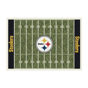 PITTSBURGH STEELERS 8X11 HOMEFIELD RUG