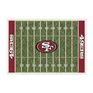SAN FRANCISCO 49ERS 4X6 HOMEFIELD RUG