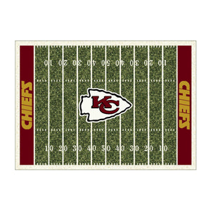KANSAS CITY CHIEFS 8X11 HOMEFIELD RUG